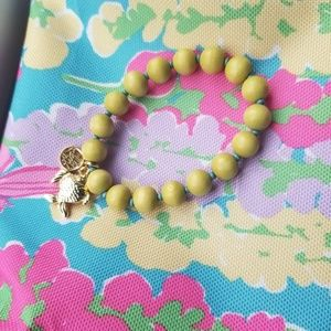 Lily Pulitzer Beaded Fish Bracelet Loro Green